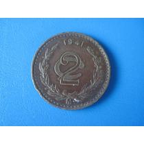 Excelente Moneda De 2 Centavos De 1941
