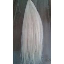 Cabelo Humano Natural Descolorido Loiro Claro 60cm 67 Gramas