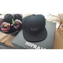 Gorra Supra Black - Black Nueva Original
