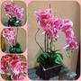 Arranjo De Flores Artificiais - Orquídeas Rosa Tam: 55x25