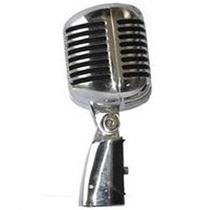 Microfone Vintage Leacs Lc-55 Cr (cromado)