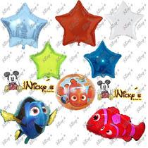 37 Globos De Nemo Y Dory,fiesta Tematica Estrellas Metalicas