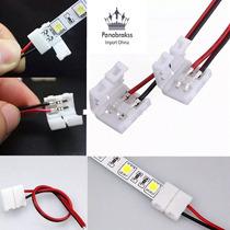 Emenda Conector C/ Fio Fita Led 3528 2 Vias Click 10mm