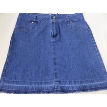 Pollera Corta De Jeans Talle 44
