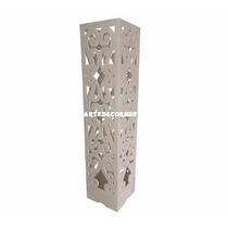 Luminária De Coluna Decorativa Casamento E Festas Mdf - Cru