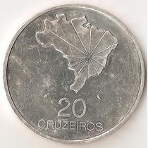 Brasil, 20 Cruzeiros, 1972. Plata. 150 Aniv Independencia Xf