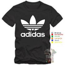 Camisa, Camiseta Adidas Personalizada Promoção Algodão