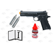 Marcadora Airsoft Co2 Colt Commander Bbs .177 Metal Xtreme