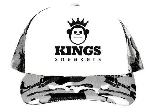 10c3ac916c8df Boné Aba Torta Trucker Kings Sneakers Lindo Cinza Camuflado - R  35 ...
