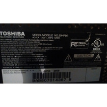 Panel Principal Audio Video Tv Plasma Toshiba 50 No.50hp66