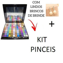 Maleta Maquiagem Profissional Completa + Kit 20 Pinceis Luxo