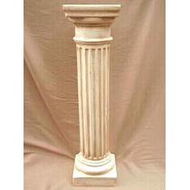 Columna De Yeso 60cm X 20cm Dorica Blanca
