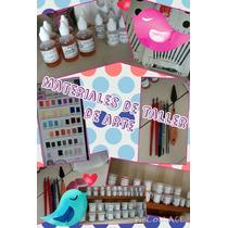Kit Pintura Porcelana Cerámica 15 Pigmentos + 2 Diluyentes!!