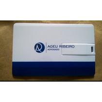 Pen Drive 8gb Cartão Liso Pen Card Personalizar Estudio