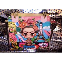Bolsa Frida Kahlo, Marca Bria/faces, Hermosa, Envío Gratis!!