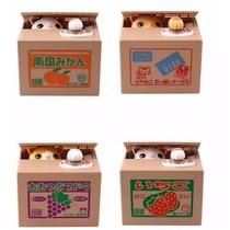 Original Alcancia Roba Monedas Gato 4 Colores Disponibles