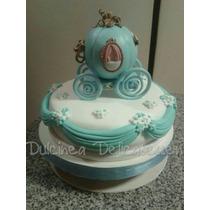 Adornos Para Tortas Carrozas De Princesas En Porcelana Fria