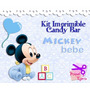 Kit Imprimible Candy Bar Mickey Bebe