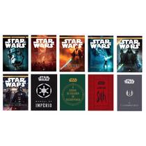 Coleção Star Wars 10 Livros Lacrados Guerra Nas Estrelas