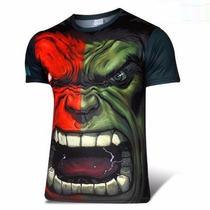 Poleras Spandex Marvel Superman Hulk Flash