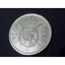 Espanha Moeda Soberba 50 Pesetas 1975 - Carlos I - Linda