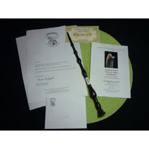 Kit De 6 Varitas De Harry Potter + Ticket 9 3/4 + Carta