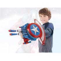 Escudo Capitão América Lança Dardos Brinquedo Guerra Civil