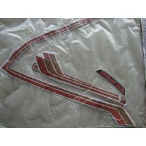 Jogo De Faixas Adesivo Honda Cb400 Il Dourado Ano 82/83