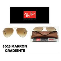 Lentes Rayban 3025, Marron Gradiente Stock,somos Optica
