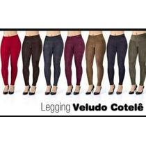 Calça Legging Veludo Cotele Exelente Qualidade