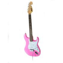 Guitarra Memphis By Tagima Mg32 Strato Rosa