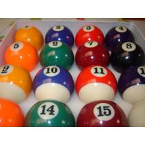 Jogo Bolas De Bilhar Snooker Sinuca 52mm 16 Peças