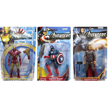Muñecos Avengers Hulk,thor,capitan America,hombre Araña