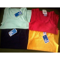 Camisetas Ovejita Franelillas Unicolores Talla 10-12 Algodón