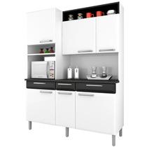 Armário Para Cozinha Regina Itatiaia I3vg3-155 Branco/preto