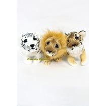 Felinos Tigre Leon De Peluche 30cm