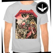Camiseta Metallica Ou Baby Look Banda Rock Camisa Blusa C