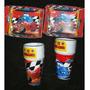 Set Piñata Infantil Cars Vasos Bandejas Mantel Cubiertos