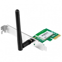 Placa De Rede 1 Antena Intelbras Pci-e Wireless N 150 Mbps