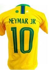 a84acef8f4 Camiseta Seleção Brasileira Brasil Neymar Numero 10 Amarela