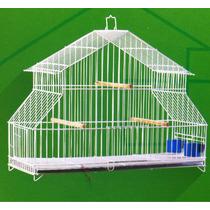 Gaiola Para Pássaros Preto Comedouro E Poleiro