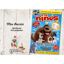 Invitaciones La Vida Secreta De Tus Mascotas Imprimible