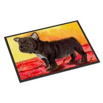 Bulldog Francés Mat Cubierta Al Aire Libre 18x27 Felpudo