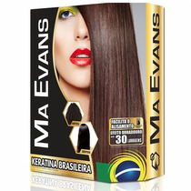 Kit Ma Ervans, 1 Shampoo E Loção Keratina Brasileira 40 Ml