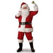 Disfraz Viejo Pascuero Santa Claus Nue. Americano Felpa 11pz