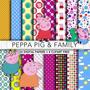 Kit Imprimible Pack Fondos Peppa Pig 55 Clipart