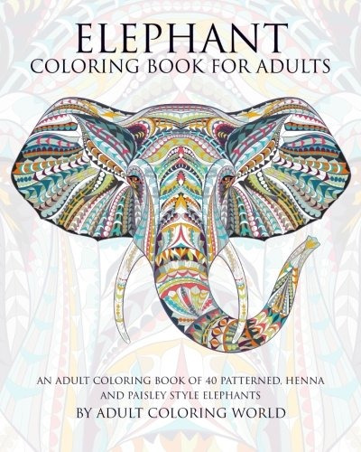 Libro De Colorear De Elefante Para Adultos: Un Libro De - $ 666.77 ...
