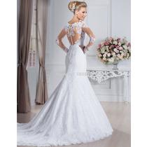 Belíssimo Vestido De Noiva De Renda Modelo Sereia Importado
