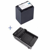 Kit Bateria Np-fv100 + Carregador Vh1 Sony Dcr-sr68 Dcr-sx20