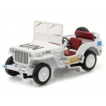 Miniatura Jeep Willys Branco United Nations 1:43 Greenlight